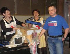 Отправка оборудования в Осетию